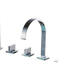 cheap -Bathtub Faucet Electroplated Roman Tub Ceramic Valve Bath Shower Mixer Taps