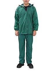 Недорогие -Муж. Повседневные Обычная Пальто, Однотонный Капюшон Длинный рукав Полиэстер Зеленый