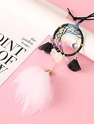 cheap -Dream Catcher Car Pendant Fantasy Girl Heart Powder Cute Wind Chimes Rearview Mirror Ornament Creative Gift