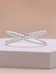 cheap -Women's Bracelet Crossover Precious Stylish Sweet Rhinestone Bracelet Jewelry White For Wedding Party
