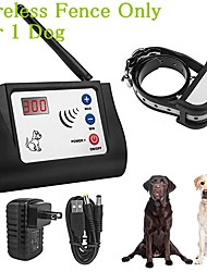 cheap -Wireless Electric Pet Fence Pet Electric Containment System Adjustable Control Range Display Distance Safe Effective Beep Virbation Shock