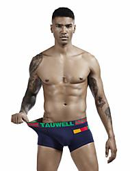 cheap -Men's Basic Boxers Underwear / Briefs Underwear - Asian Size Low Waist Black White Dark Gray M L XL