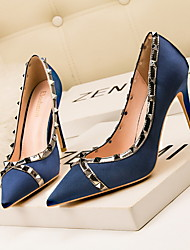 cheap -Women's Heels Stiletto Heel Pointed Toe Suede Spring & Summer Black / Blue / Gray