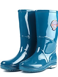 cheap -Unisex PU Winter Boots Mid-Calf Boots Green / Blue