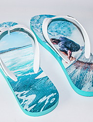 cheap -Men's PU Spring & Summer Casual Slippers & Flip-Flops Breathable Gradient Blue