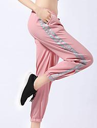 Недорогие -Спортивная одежда Нижняя часть / Йога Жен. Учебный / На каждый день Polyster На эластичной ленте Средняя талия Брюки