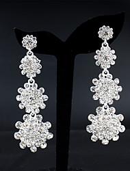 cheap -Women's Drop Earrings Dangle Earrings Pear Cut Drop Fashion Elegant Earrings Jewelry Silver For Wedding Party Anniversary Prom 1 Pair