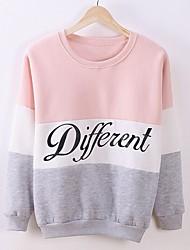 cheap -Women's Sweatshirt Letter Casual White Blue Red Blushing Pink S M L XL