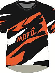 Недорогие -moto gp мотоцикл дышащий / быстросохнущий / солнцезащитный крем футболка верхняя часть быстросохнущего джерси с коротким рукавом