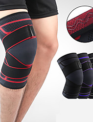 cheap -Knee Brace Knee Sleeve Sporty for Joint Pain and Arthretith Marathon Running Adjustable Anti-slip Strap Joint support Men's Women's Silicon Nylon Spandex Fabric 1 Piece Sports Black / Red