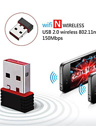cheap -USB 2.0 Wireless Network Card Wifi Adapter Dongle Receiver Network Card 802