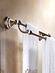 cheap -Towel Bar Antique Brass / Crystal / Ceramic 1 pc - Hotel bath 2-tower bar