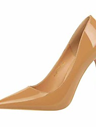 cheap -Women's Heels Stiletto Heel Pointed Toe Faux Leather Casual / Minimalism Spring / Summer Black / Brown / Camel