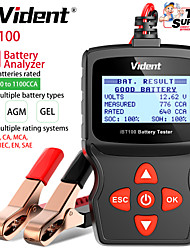 cheap -Vident iBT100 12V Battery Analyzer for Flooded AGMGEL 100-1100CCA Automotive Tester Diagnostic Tool OBDII Code Reader and Car Diagnostic Tool OBD2 Automotive Scanner