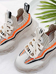 Недорогие -Девочки Удобная обувь Сетка Спортивная обувь Малыш (9м-4ys) Розовый / Оранжевый / Черный Лето