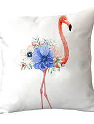 cheap -Set of 1 Polyester Pillow Cover Small Fresh INS Flamingo American Style Nordic Style Pillow Cover Car Sofa Cushion Window Sill Decorative Pillow