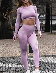 cheap -Activewear Top Ruching Women's Training Long Sleeve Polyester Taffeta