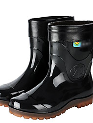 cheap -Men's PVC Spring & Summer Boots Waterproof Mid-Calf Boots Black / Army Green
