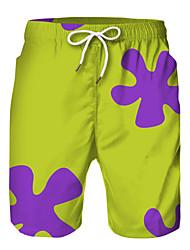 cheap -Kids Boys' Active Basic Print Drawstring Shorts Green