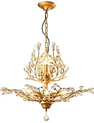 cheap -7-Light 60 cm Mini Style Chandelier Metal Crystal Electroplated Retro 110-120V / 220-240V