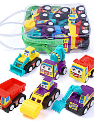 cheap -Vehicle Playset Car Vehicles Construction Truck Set Fire Engine Vehicle Focus Toy Lovely Plastic Mini Car Vehicles Toys for Party Favor or Kids Birthday Gift 6 pcs