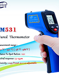 cheap -BENETECH GM531 Non contact Digital Laser infrared thermometer -50~530C(-58~875F) 0.1-1.0 Adjustable IR Laser Point Gun Pyrometer