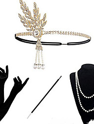 cheap -Dance Accessories 1920s / The Great Gatsby Women's Alloy Crystals Vintage / Costume & Disguise Headpiece