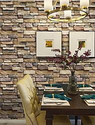"cheap -Brick Wallpaper,Stone Contact Paper Roll for Room Decor (25"" x 395"" Yellow Brick)"