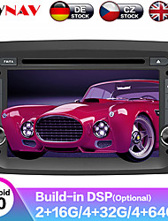 cheap -ZWNAV 7inch 2din Android 9 Car DVD Player GPS Navigation Auto Stereo car Multimedia Player Pad radio tape recorder for FIAT DOBLO 2016
