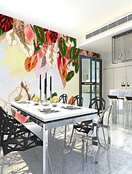 cheap -Custom Self-adhesive Mural Wallpaper Colorful Leaves Suitable For Bedroom Living Room  Coffee Shop Restaurant Hotel Wall Decoration Art Room Wallcovering