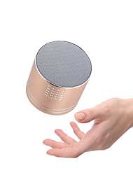 cheap -A03 Mini Wireless Bluetooth Speaker Matal Portable Gift Subwoofer for Support TF Card FM Radio Voice Prompts Handsfree Speaker