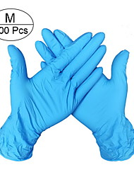 cheap -100pcs Comfortable Rubber Disposable Mechanic Laboratory Safety Work Nitrile Gloves Blue Soft Working Safety Disposable Gloves