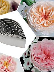 Недорогие -Из нержавеющей стали капли воды фондант набор выпечки торта инструменты лепесток розы плесень