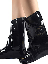 cheap -Women's Boots Flat Heel Round Toe PVC Booties / Ankle Boots Spring & Summer Black / Yellow / Red