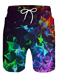 cheap -Kids Boys' Active Basic Print Color Block Drawstring Shorts Rainbow