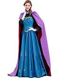 cheap -Anna Cosplay Costume Adults' Women's Dresses Christmas Halloween Carnival Festival / Holiday Silk Cotton Purple Carnival Costumes Princess