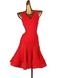 cheap -Latin Dance Dresses Women's Performance Spandex Ruching Sleeveless Dress