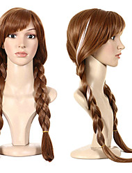 cheap -Synthetic Wig Plaited Halloween Braid Wig Long Brown Synthetic Hair 27 inch Women's Best Quality Plait Hair Brown