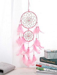 cheap -Ins Wind Second Ring Dream Catcher Pink Series Pendant Car Pendant