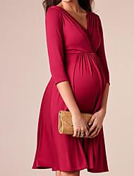 cheap -Women's Sheath Dress - Solid Color Wine Royal Blue Black S M L XL