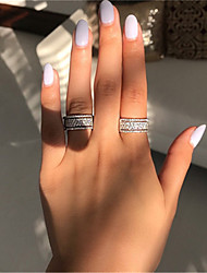 cheap -Women's Ring 1pc Silver Alloy Daily Jewelry Cute