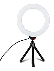cheap -1pcs 6 inch Dimmable Cold Warm LED Studio Camera Ring Light TikTok Light Youtube Video Photo Phone Video Light Lamp With Tripods Ring Table Fill Light