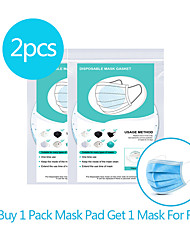 cheap -2pcs Circular Disposable Mask Gasket Isolation Filter Pad Anti-fog Haze Dust-proof Breathable Mask Replacement Pad Cotton Pad