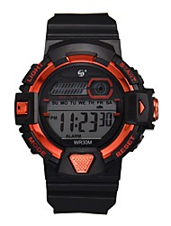 cheap -Men's Sport Watch Automatic self-winding Outdoor Water Resistant / Waterproof Digital Blue Red Blushing Pink / One Year / Rubber / Chronograph