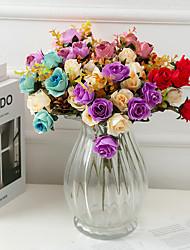 Недорогие -искусственный цветок поддельные украшение гостиной свадьба роза свадебный набор украшения цветок моделирования двухцветный рос