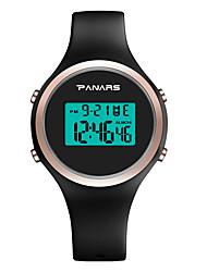 Недорогие -Жен. электронные часы На каждый день Мода Черный Розовый Силикагель Китайский Цифровой Розовый Черный Новый дизайн Фосфоресцирующий Повседневные часы 30 m 1 комплект Цифровой / Один год