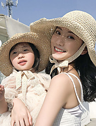 cheap -Hiking Hat Fishing Hat Fisherman Hat Hat 1 PCS Portable Sunscreen UV Resistant Breathable Solid Color POLY Autumn / Fall Spring Summer for Women's Camping / Hiking Hunting Fishing Cream Champagne