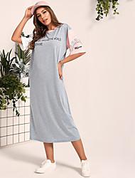 Недорогие -женская мода свободная футболка платье
