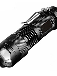 cheap -Q5 mini flashlight LED Flashlights / Torch Waterproof 600 lm LED LED 1 Emitters 3 Mode Waterproof Professional Durable Creepy Camping / Hiking / Caving Everyday Use Cycling / Bike Outdoor Natural