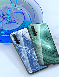 cheap -Luxury Marble Glass Phone Case For Huawei Honor 20 Pro Honor 9X Pro P Smart 2019 Y9 2019 P Smart Z P Smart Plus 2019 Gradient Tempered Glass Shockproof Back Cover TPU Silicone Edge Protection